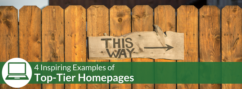 Four Inspiring Examples of Top-Tier Homepage Design