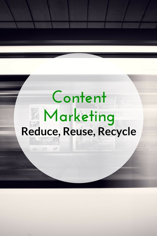 Content Marketing - Reduce, Reuse, Recycle