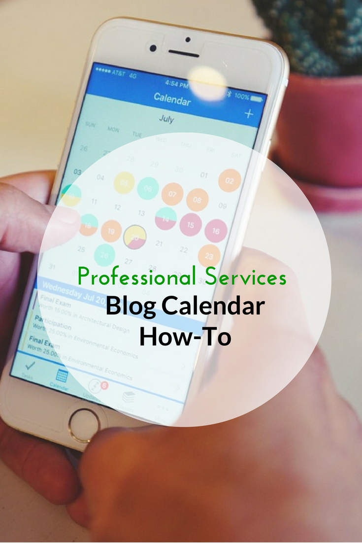 Professional Services Blog Calendar How-To