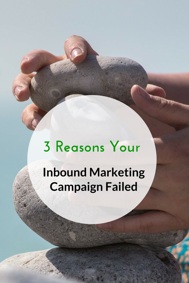 3 Reasons Your Inbound Marketing Campaign Failed